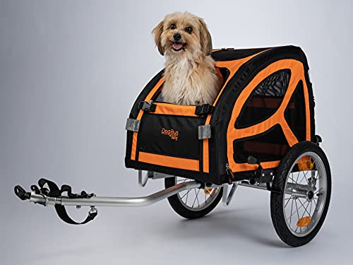 TrendPet DogBus S - Gefederter Aluminium Fahrradanhänger für kleine bis mittlere Hunde