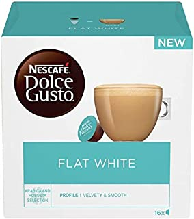 Nescafe Dolce Gusto Flat White Coffee Capsules - 16 Capsules
