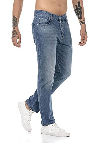 Redbridge Vaqueros para Hombre Jeans Denim Pants Estilo Straight Cut Azul W36L32