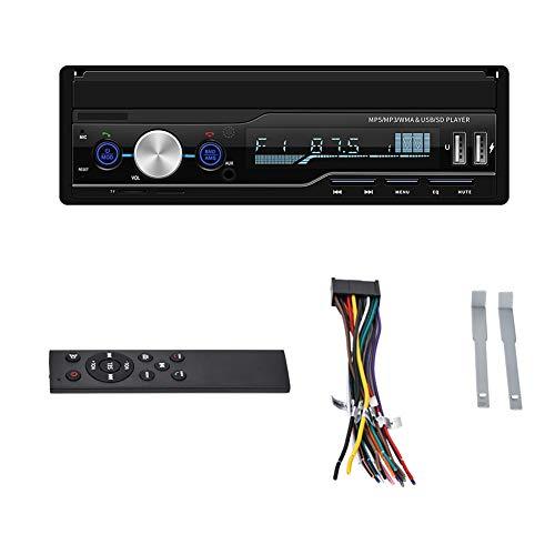Mavis Laven Reproductor de Video retráctil para automóvil de 7 Pulgadas, navegación GPS Radio para automóvil Reproductor MP5 con Pantalla táctil Admite interconexión de teléfono móvil