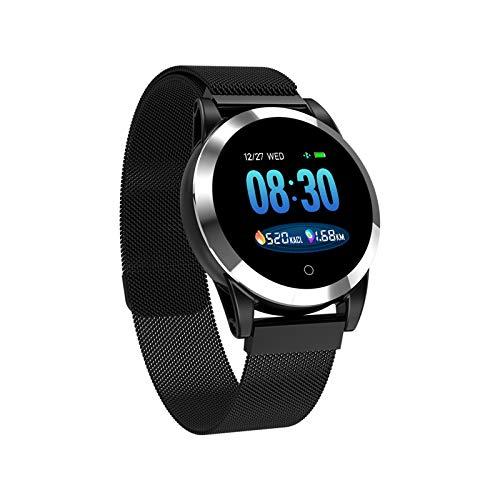 WEINANA Smart Watch PPG Herzfrequenz Fitness Tracker Blutdruckuhr IP68 Wasserdichtes Smart Armband(Color:D.)