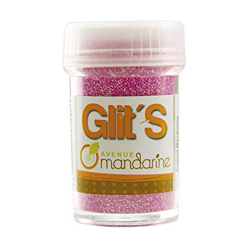 Avenue Mandarine 42744O - Un flacon de paillettes Glit's 14 g Fluo rose