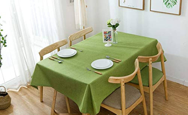Xsongue Tablecloth Rechteckige Einfache Hausgemachte Baumwoll-hanf-Stoff Desktop Decoration Kitchen Kitchen Kitchen Restaurant Cafe Picnic Party Tisch Pure Farbe Grobe Hanf Schlicht Tischtuch 140  220 Grün B07Q22D1CS 028608