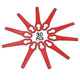 GLOBALDREAM 30 Pezzi di plastica Trimmer, Ricambio Giardino Tosaerba per Erba Taglio Lama Giardino Strumento Erba taglierina Strumento di Ricambio