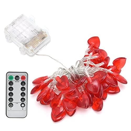 Decoración con luz LED, decoración de Fiesta con luz de Alambre de Cobre, Temporizador Incorporado con Control Remoto para el hogar