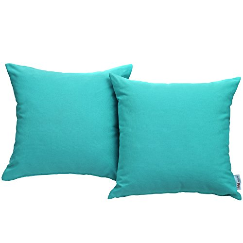Modway EEI-2001-TRQ Convene Two Piece Patio Pillow Set Outdoor Furniture, Turquoise