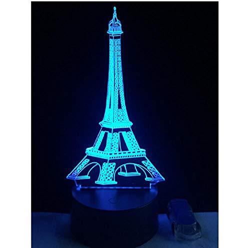Eiffeltoren decoratieve verlichting kabel party sfeer nachtlicht 3D LED USB multicolor tafellamp mooi cadeau remote telefoon bluetooth control kleur
