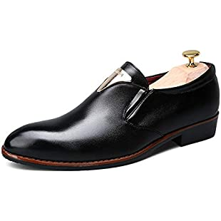 2018 Mens lace-ups oxfords sheos, Men's Business Oxford Shoes, Casual Fashion Breathable Anti-skid Formal Shoes (Color  Black, Size  6.5 UK)