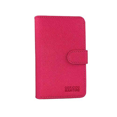 GC-TECH® mycase for myblu geniale funda para tu cigarrillo electrónico, Intense Touch Liquid-Pod, tarjeta de crédito y Funda de carga con cierre magnético (negro, rosa y azul)