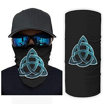 Triquetra Knot Ethnic Tattoo Fantasy Triquetra Viking Print Bandana Face Mask Sun Protection Face Scarf White OneSize