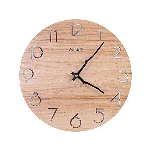 Moderno Reloj De Pared Silencioso, 12 Pulgadas, No Hace Tictac, Funciona Con Pilas, Para Dormitorio, Sala De Estar, Oficina,...