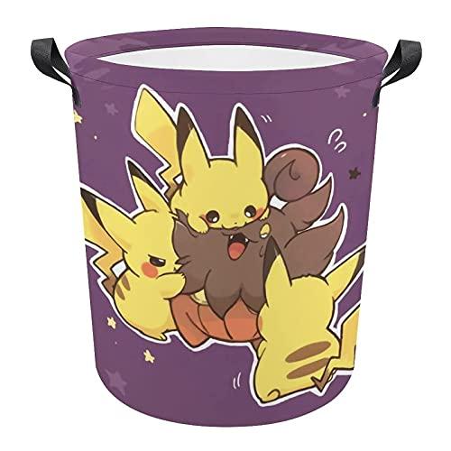KEROTA Pokémon - Grand panier à linge pour chambre à coucher, maison, rangement de vêtements, 43 x 41 cm