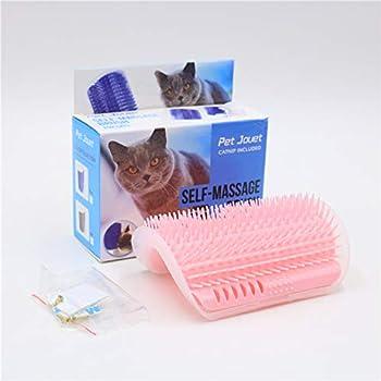 AmoreDiPET Brosse de Massage pour Coin de Chat avec Peigne Auto-toilettage pour Animal Domestique