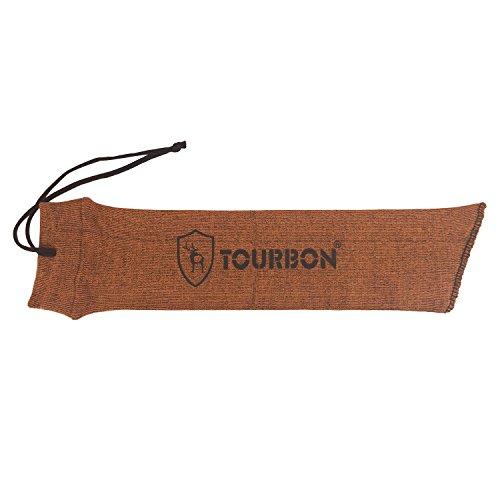 tourbon Silikon Öl behandelt Sack Aufbewahrung Pistole Socke Pistolen Fall Sleeve 38,1cm, Gun Sock Handgun Case, Orange