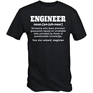 Funny ENGINEER T SHIRT (Large):Anders-als-andere
