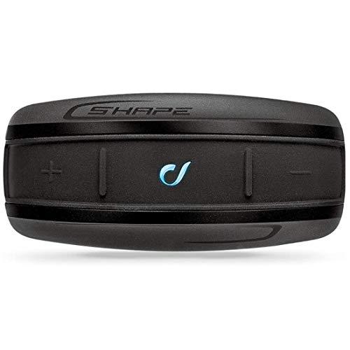 INTERPHONE CellularLine SHAPE - Interfono Bluetooth da casco per comunicazione in moto, Uso Pilota - Passeggero, Distanza 10Mt, Autonomia 12 ore, MP3, GPS, Impermeabile, Universale - Singolo.