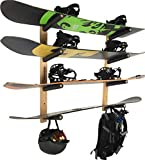 Snowboard Wall Rack Mount (Holds 4 Boards)