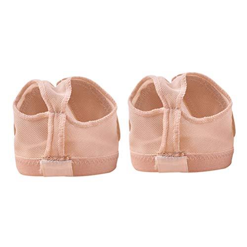 LIOOBO Zapatilla de Ballet para Danza del Vientre, Tanga, pies, Media Suela, Talla M