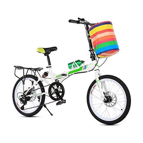 CENPEN Bicicletas Deportivas al Aire Libre 20 Pulgadas Bicicleta Plegable en tándem de la Bici Adultos Niños Viaje de Bicicletas Campo de la Bici Plegable for niños Doble Disco de Freno
