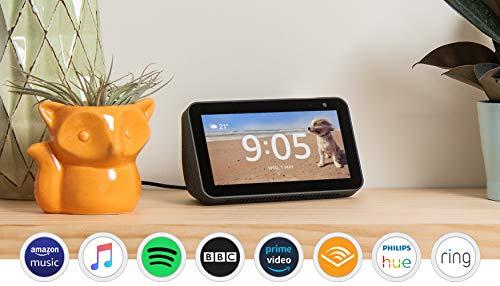 Certified Refurbished Echo Show 5 | Compact smart display with Alexa, Black