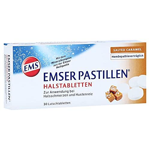 Emser Pastillen Halstabletten mit Salted Caramel– Bei Halsschmerzen, Husten und starker Stimmbelastung – 30 Stück