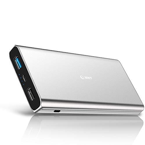 EMNT Quick Charge 3.0 Power Bank 10400 mAh Batería externa QC 3.0 Batería portátil Cargador externo para todos los smartphones tabletas, color plateado
