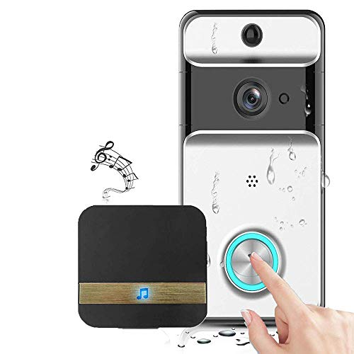 RUIXINBC Startpagina draadloze deurbel WiFi, visuele intelligente waterdichte deurbel, videobewaking stem intercom anti-diefstal deurbel