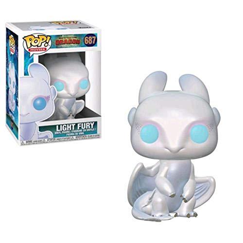 cheaaff Funko Pop Como Entrenar a tu dragon desdentado 686# Light Fury 687# Coleccion de Figuras de accion Modelo de Juguete para ninos-687