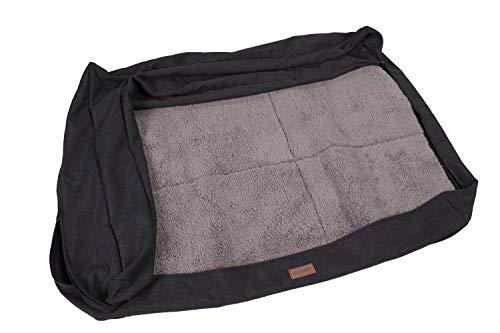 brunolie Wechselbezug Ersatzbezug für Odin,waschbar, hygienisch und rutschfest, Grau, Größe M