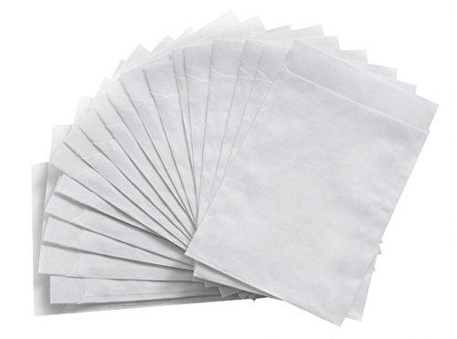 100 Papiertüte WEISS Kraftpapier-Tüte Umschlag 13 x 18 + 2 cm Verpackung Geschenk-Tüte give-away Mitgebsel-Tüte Gastgeschenk Kunden-tüte Papier-Flachbeutel Papierbeutel