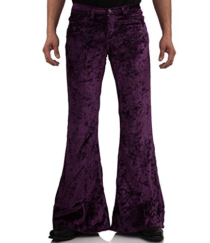 COMYCOM fluwelen broek Star fluweel violet