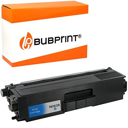 Bubprint Toner kompatibel für Brother TN-326 C TN-326C für MFC-L8850CDW HL-L8350CDW HL-L8350CDWT MFC-L8650CDW HL-L8250CDN MFC-L8850CDW Cyan