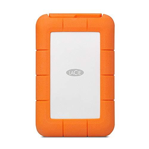LaCie Rugged RAID Pro, tragbare externe Festplatte 4 TB, 2.5 Zoll, RAID USB-C, Card Reader, PC & Mac, Modellnr.: STGW4000800 (Generalüberholt)