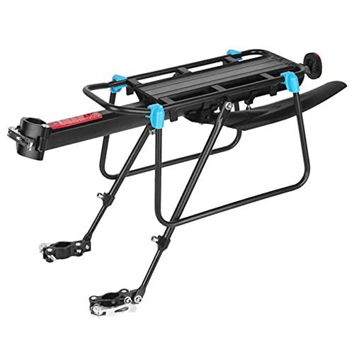 Portaequipajes Posterior para Bicicletas Bicicleta Retráctil Aleación de Aluminio Bastidor del Poste del Asiento Trasero,