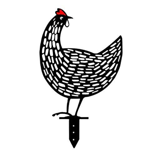 Grifo De Jardín Silueta | Adorno De Estatua De Gallo Realista - Impermeable E Inoxidable Camino De Césped De Jardín Adorno De Animal De Interés En La Acera