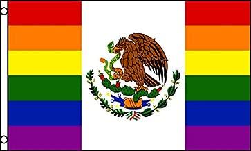 AZ FLAG Mexico Rainbow Flag 3' x 5' - Gay Mexican Flags 90 x 150 cm - Banner 3x5 ft