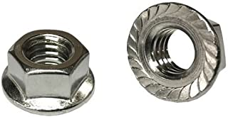 1//4-20 Stainless Steel Flange Nuts Serrated Base Lock Anti Vibration Qty 1482