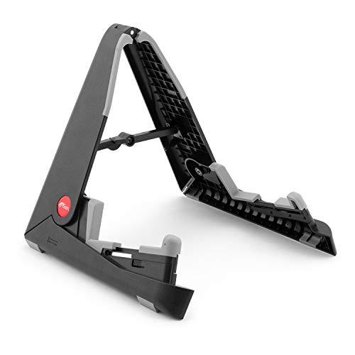 Tiger GST63-BK A-Rahmen Gitarrenständer - Tragbarer faltbarer Gitarrenständer für Elektro-, Akustik-, Klassik- und Bassgitarren, schwarz