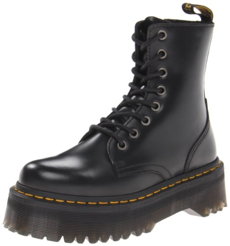 Dr. Martens JADON, Scarpe Stringate Basse Brogue Unisex-Adulto, Nero (Black Polished), 41
