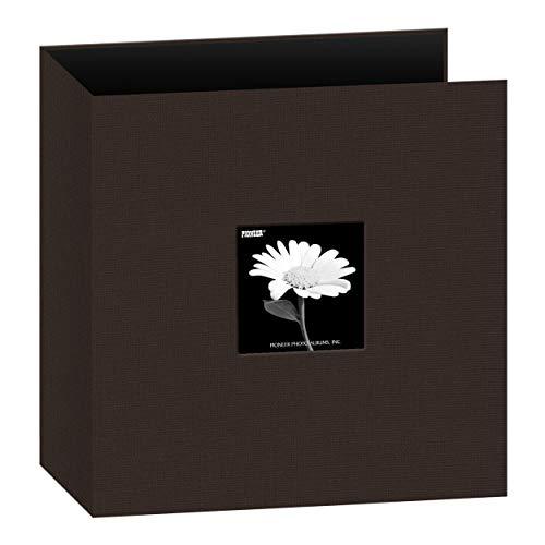 Pioneer Photo Albums 8.5x11 Fabric Frame 3-Ring Binder Scrapbook, Chocolate Brown