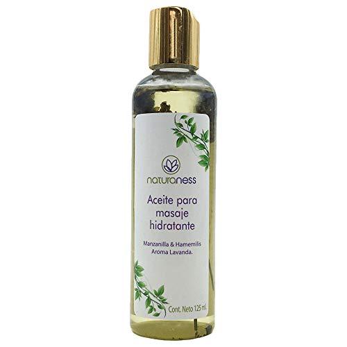 Naturaness Aceite para masaje corporal hidratante a base de extractos herbales 100% naturales, Aroma Lavanda.