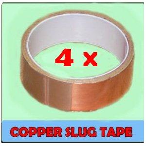 4 X Limace Bande Ruban Cuivre Repousser 30MM X Long 4M Haute Qualité
