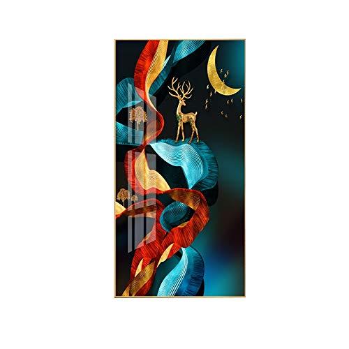 sknonr Porche Pintura Decorativa Pasillo Moderno Pasillo Mural Cristal Porcelana Vertical Pintura...