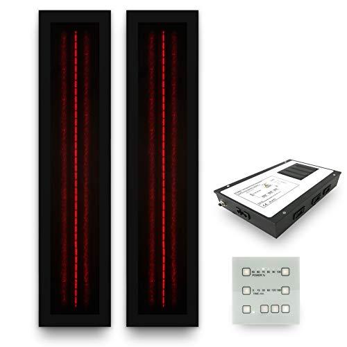 Infrarotstrahler Sauna RotLicht Frame Black Set-2, artvion (2 x 500 Watt)