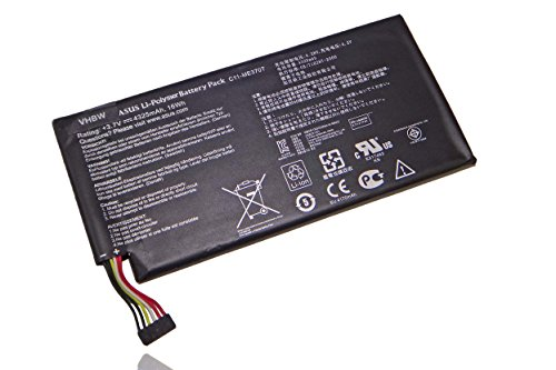 vhbw Batterie 4300mAh pour ASUS ME301T-A1, MeMO Pad ME301T, Pad ME172V, Memo Smart Pad 10.1, Google Nexus 7 remplace C11-ME370T, ME3PNJ3, C11-ME370TG.