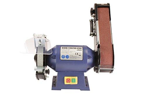 Doppelschleifmaschine, Doppelschleifer, Bandschleifer DSM-150/50-250 250W +4 Schleifbänder gratis