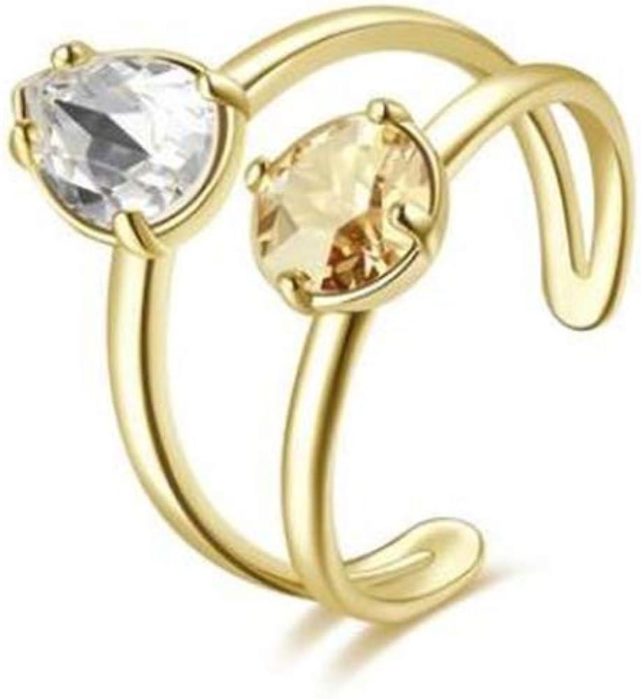 Brosway affinity anello per donna in ottone rodiato e galvanica oro con cristalli swarovski BFF147C