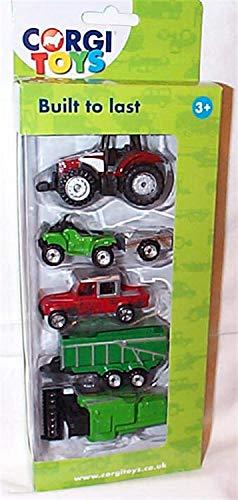 Corgi Toys Built to Last Agriculture Véhicules 5 Pièces Ensemble 1.64 Échelle Modèle Miniature