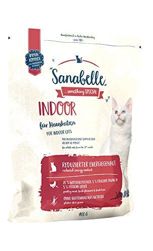 Sanabelle Indoor   Alimento seco para Gatos Adultos (a Partir de los 12 Meses)   Especialmente Adecuado para Gatos domésticos y Gatos con Rango de Movimiento reducido   6 x 400 g
