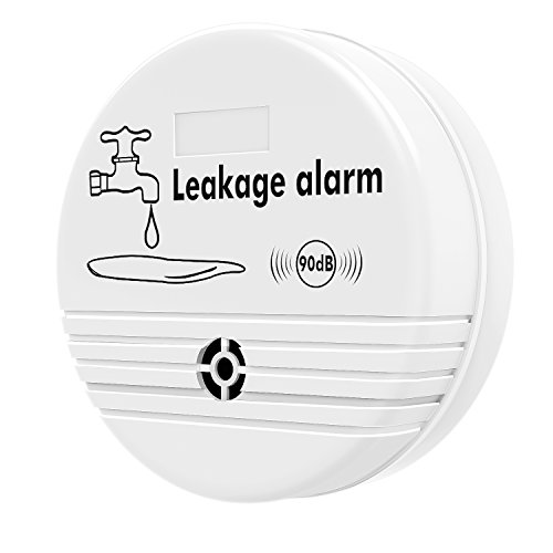 Housolution Water Leakage Alarm Detector, Household Water Leak Monitor Drainage Alert Device, High Sensitivity & Waterproof, Suitable for Kitchen Bathroom Laundry Room etc, White